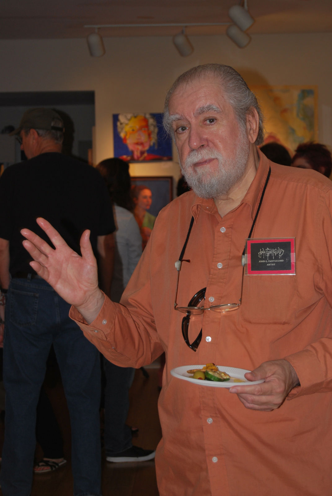 John G Fantucchio at opening reception for ''Drawing Inspiration From the Figure'' Show at Del Ray Artisans on June 4th, 2011