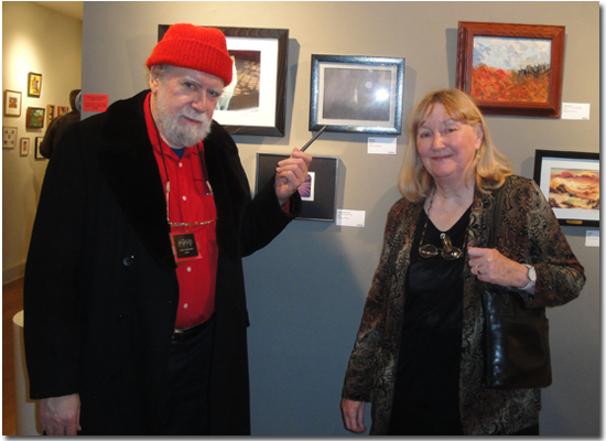 John and Mary Fantucchio at a gallery