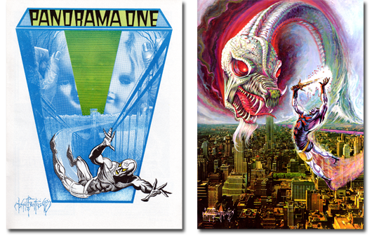 Two of my favorite John G. Fantucchio fanzine covers: Panarama 1 and Fantastic Fanzine 13!