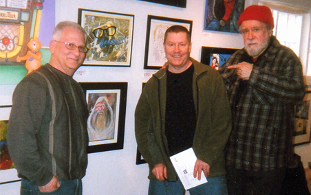 David Irving, John G. Fantucchio and myself at the Del Ray Artisans Gallery in May 2011