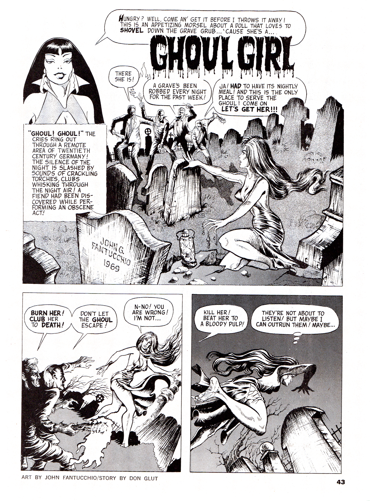 Vampirella 5 with 6 page ''Ghoul Girl'' story with art by John G. Fantucchio